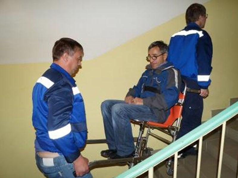 Спуск и подъем инвалидов